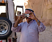 Egypt, Sinai Peninsula Local Bedouin takes a picture