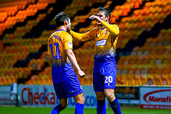 Timi Max Elsnik of Mansfield Town and Will Atkinson of Mansfield Town celebrate the winning goal - Mandatory by-line: Ryan Crockett/JMP - 13/11/2018 - FOOTBALL - One Call Stadium - Mansfield, England - Mansfield Town v Scunthorpe United - Checkatrade Trophy