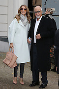 27.NOVEMBER.2012. PARIS<br /> <br /> CANADIAN SINGER CELINE DION AND HER HUSBAND RENE ANGELIL LEAVING THE GEORGE V HOTEL IN PARIS.<br /> <br /> BYLINE: EDBIMAGEARCHIVE.CO.UK<br /> <br /> *THIS IMAGE IS STRICTLY FOR UK NEWSPAPERS AND MAGAZINES ONLY*<br /> *FOR WORLD WIDE SALES AND WEB USE PLEASE CONTACT EDBIMAGEARCHIVE - 0208 954 5968*