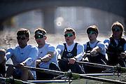 London. UNITED KINGDOM.   Tideway Week. 162nd BNY Mellon Boat Race  and The 71st Newton Women's Boat Race on the Championship Course, River Thames, Putney/Mortlake.  Friday  25/03/2016    [Mandatory Credit. Intersport Images]<br /> <br /> Oxford University Boat Club {OUBC}<br /> <br /> Oxford, Crew, Bow: George McKirdy – 76.8kg, 2: James White – 87.0kg, 3: Morgan Gerlak – 85.8kg, 4: Joshua Bugajski – 96.4kg, 5: Leo Carrington – 87.0kg, 6: Jørgen Tveit – 82.4kg, 7: Jamie Cook – 84.0kg, Stroke: Nik Hazell – 94.8kg, Cox: Sam Collier – 56.2kg