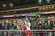 England and Brazil fans ahead of the international friendly match between England and Brazil at Wembley Stadium, London, England on 14 November 2017. Photo by Darren Musgrove.