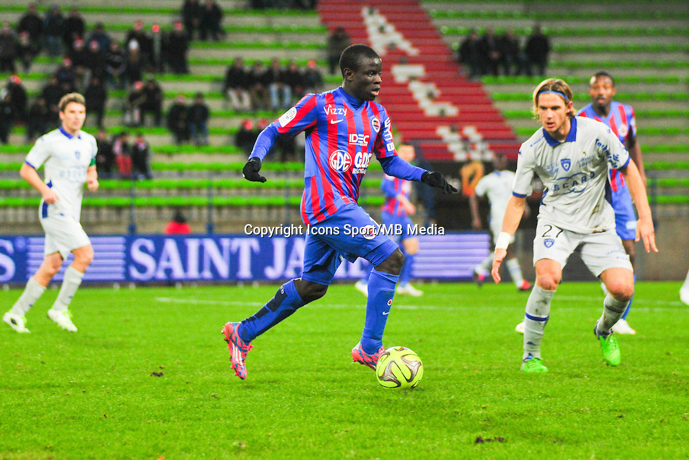 N'Golo Kante - 20.12.2014 - Caen / Bastia - 19eme journee de Ligue 1 <br /> Photo : Philippe Le Brech / Icon Sport