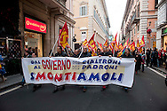 Roma, 15 Dicembre  2011.Manifestazione dell'USB contro il governo Monti .