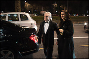PETER STRINGFELLOW, BELLA WRIGHT , Conservative Party Black and White Ball fundraiser 2015, Grosvenor House. Park Lane, London. 9 February 2015