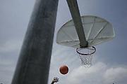 Shooting hoops at the Boys & Girls Club in St. Petersburg, Florida.