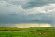 Rainstorm and ranchland, Fergus County, central Montana.