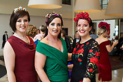Repro free: Sarah King, Caitriona King and Suzanne Burke at The Irish Fashion Innovation Awards 2017 at the Radisson Blu Hotel. Photo:Andrew Downes, XPOSURE<br /> <br /> NOTE: <br /> The Irish Fashion Innovation Awards presented by Goldenegg Productions is a contest for fashion designers and fashion students, showcasing the highest expression of creativity from the most innovative designers in Ireland. Recognised as a launching pad for Ireland&rsquo;s most talented, the event attracts entries from promising fashion creatives competing for the prestigious Awards. The Irish Fashion innovation Awards continually aspire to showcase the most cutting-edge designers, giving up-and-coming designers an invaluable connection to the public. The brainchild of Patricia McCrossan of Goldenegg Productions, the Awards give visibility, support and a voice to design talent throughout Ireland, offering an unrivalled opportunity for their work to be shown to a jury made up of fashion design experts. &ldquo;The Goldenegg Irish Fashion Innovation Awards are unique to Ireland. They are seen as providing a rite of passage for many of our top designers as they make their way up the rungs of the fashion ladder. We have a fantastic track record to date with some of Ireland&rsquo;s best-known designers making their national debut at the Goldenegg Irish Fashion Innovation Awards,&rdquo; explains Patricia. Previous winners include Carla Johnson, Natalie B. Coleman, Una Burke, Niamh O&rsquo;Neill, Martha Lynn, Blaithin Ennis and Rebecca Marsden.