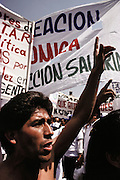 May 1: Worker's Day protestors in the Zocolo, the central square, in Mexico City, Mexico.