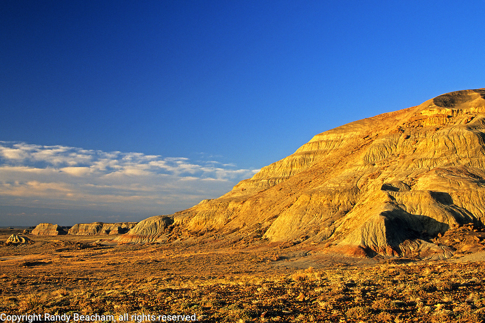 Badlands near Oregon Buttes in the Red Desert. Great Divide Basin, Wyoming