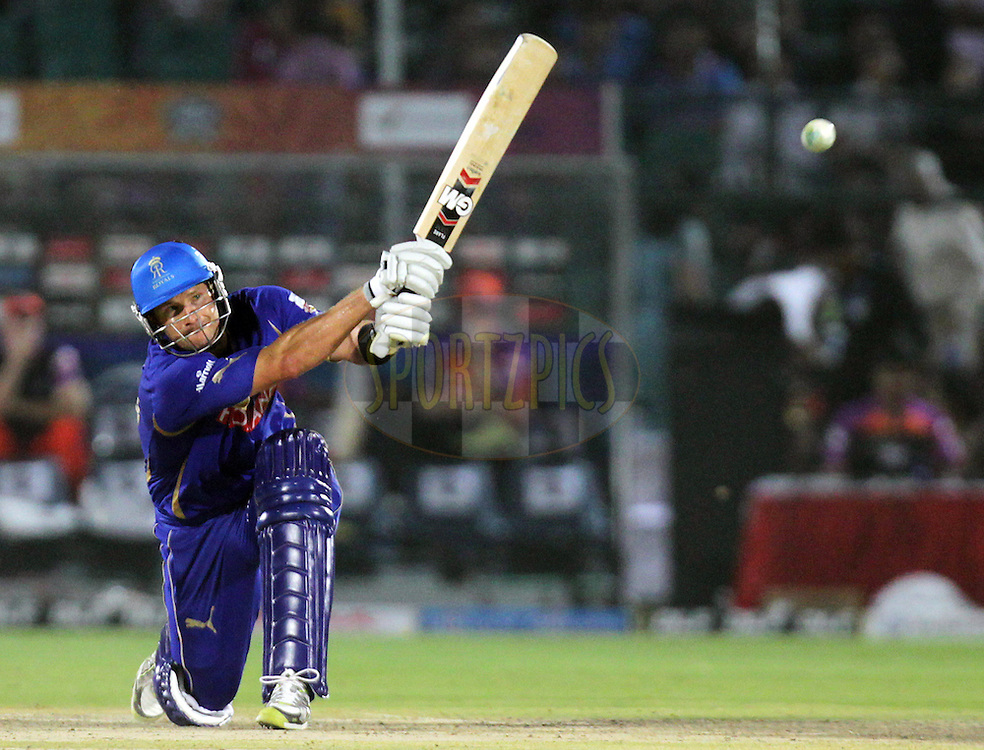 Rajasthan Royals player Shane Watson bats during match 28 of the Indian Premier League ( IPL ) Season 4 between the Rajasthan Royals and the Kochi Tuskers Kerala held at the Sawai Mansingh Stadium, Jaipur, Rajasthan, India on the 24th April 2011..Photo by BCCI/SPORTZPICS.