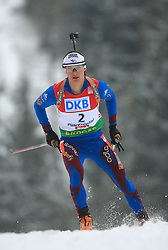 Alexis Boeuf (FRA) at Men 20 km Individual at E.ON Ruhrgas IBU World Cup Biathlon in Hochfilzen (replacement Pokljuka), on December 18, 2008, in Hochfilzen, Austria. (Photo by Vid Ponikvar / Sportida)