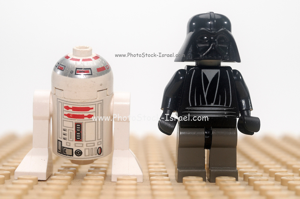 Star wars action figure Darth Vader and R2D2