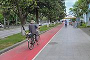 Cycling path at Miracle Park, Batumi, Georgia