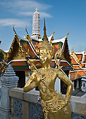 THAILAND: Bangkok Grand Palace, Chao Phraya river temples