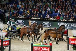 Timmerman Theo (NED) - Boris, Bonusz, Oosterwijk's Kasper, Joep<br /> FEI World Cup For In Hand Driving<br /> Vlaanderens Kerst Jumping Mechelen 2013<br /> © Dirk Caremans