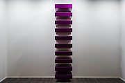 Untitled by Donald Judd in the Zwirner gallery - Frieze Masters 2014 - including a huge range of works from religious relics, through old masters to contemporary art with prices upto millions of pounds. Regents Park, London, 14 Oct 2014.