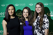 (L-R) Ami Scherson, Brie Boothby, and Ruby Williams pose for a photo at the 34th Annual Leadership Awards Gala in Baker Ballroom on Wednesday, April 5, 2017. Photo by Kaitlin Owens