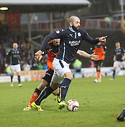 Gary Harkins goes past Chris Erskine - Dundee United v Dundee, SPFL Premiership at Tannadice<br /> <br />  - &copy; David Young - www.davidyoungphoto.co.uk - email: davidyoungphoto@gmail.com