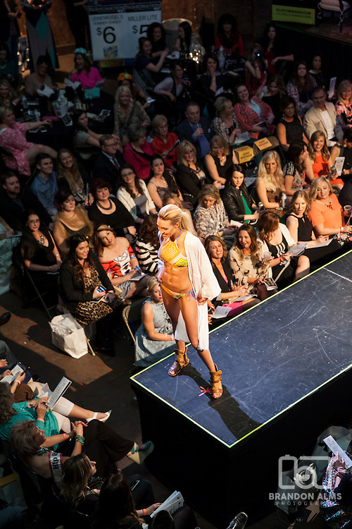 Model on the runway during 417 Magazine's Fashionation Event.