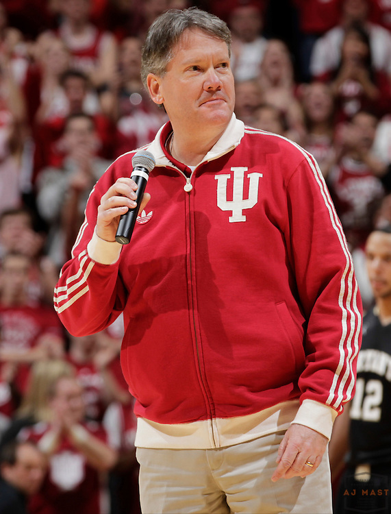 09 November 2012: Indiana athletic director Fred Glass as the Indiana Hoosiers played the Bryant Bulldogs in Bloomington, Ind.