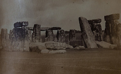 Stonehenge as it appeared in 1872, in a book of old photographs to be auctioned at Bonhams. Bonhams, Knightsbridge, London, November 23 2018.