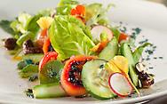 Organic Greens, Vegetables & Herbs, Avocado, Tamarillo, Ginger-Cacao Cashews, Spirulina Chips