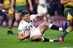 Owen Farrell of England scores a second half try - Mandatory byline: Patrick Khachfe/JMP - 07966 386802 - 24/11/2018 - RUGBY UNION - Twickenham Stadium - London, England - England v Australia - Quilter International