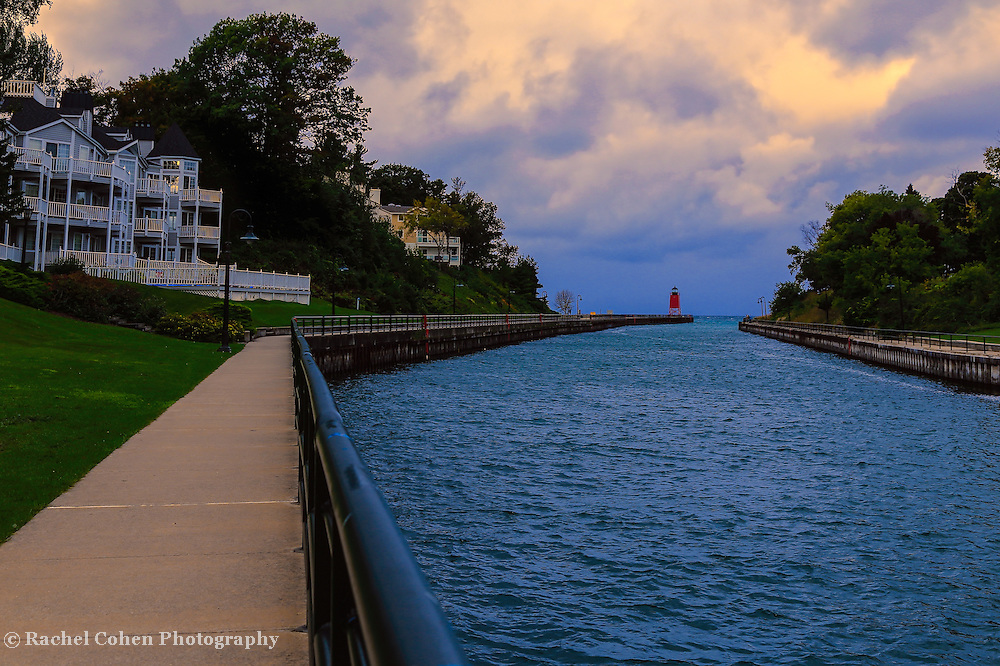 &quot;Walkway to Charlevoix Light Station&quot;<br />