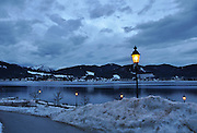 Winter in Tegernsee, Germany. Night shot