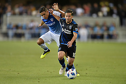 August 29, 2018 - San Jose, California, United States - San Jose, CA - Wednesday August 29, 2018: Jahmir Hyka during a Major League Soccer (MLS) match between the San Jose Earthquakes and FC Dallas at Avaya Stadium. (Credit Image: © John Todd/ISIPhotos via ZUMA Wire)
