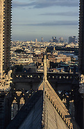 Notre Dame cathedral at the top