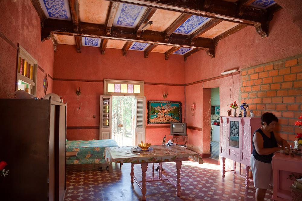 House interior in San Juan y Martinez, Pinar del Rio, Cuba.