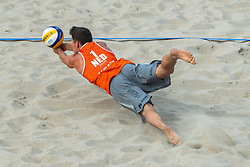 20-07-2018 NED: CEV DELA Beach Volleyball European Championship day 6<br /> Dirk Boehlé #1 NED