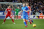 Peterborough Utd midfielder Alex Woodyard (4) during the EFL Sky Bet League 1 match between Peterborough United and Scunthorpe United at London Road, Peterborough, England on 1 January 2019.