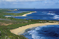 France - Département d'Outre mer de la Guadeloupe (DOM) - Grande Terre - Plage de la pointe des chateaux