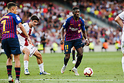 Ousmane Dembele of FC Barcelona during the Spanish championship La Liga football match between FC Barcelona and Huesca on September 2, 2018 at Camp Nou Stadium in Barcelona, Spain - Photo Xavier Bonilla / Spain ProSportsImages / DPPI / ProSportsImages / DPPI