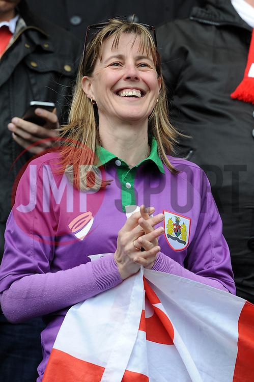 Bristol City fan - Photo mandatory by-line: Dougie Allward/JMP - Mobile: 07966 386802 - 11/04/2015 - SPORT - Football - Preston - Deepdale - Preston North End v Bristol City - Sky Bet League One
