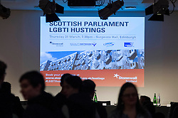 Pictured:<br /> <br /> Party leaders Nicola Sturgeon, Kezia Dugdale, Ruth Davidson, Willie Rennie and Patrick Harvie faced questions from the public at an LGBTI election hustings event arranged by Stonewall Scotland, LGBT youth Scotland, Equaity Network and The Scottish Equality Network at the Royal College of Surgeons of Edinburgh. Edinburgh. 31 March 2016<br /> <br /> Ger Harley   Edinburghelitemedia.co.uk