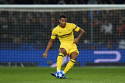 November 6, 2018 - Madrid, Spain - Manuel Akanji of Borussia Dortmund does passed during the Group A match of the UEFA Champions League between Atletico de Madrid and Borussia Dortmund at Wanda Metropolitano Stadium, Madrid on November 06 of 2018. (Credit Image: © Jose Breton/NurPhoto via ZUMA Press)