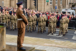 Remembrance Sunday Barnsley Corner Guard<br /> <br />  Copyright Paul David Drabble<br />  10 November 2019<br />  www.pauldaviddrabble.co.uk