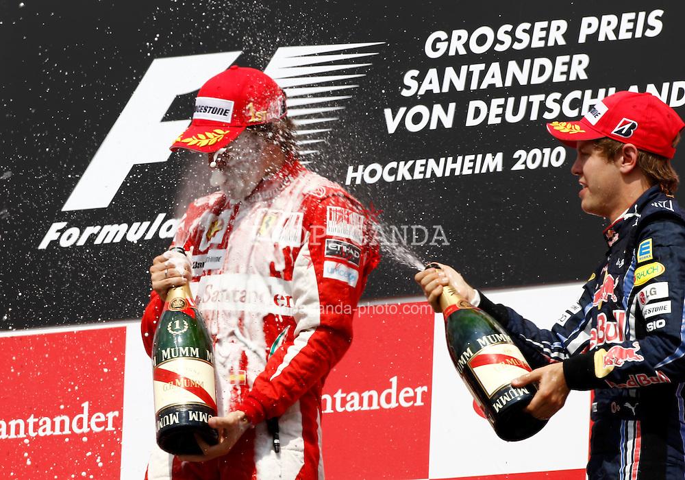 Motorsports / Formula 1: World Championship 2010, GP of Germany, 08 Fernando Alonso (ESP, Scuderia Ferrari Marlboro), 05 Sebastian Vettel (GER, Red Bull Racing),