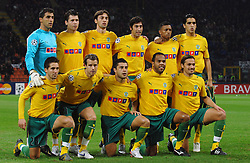 Sporting Lisbon team photo. Inter Milan v Sporting Lisbon, Champions League, Milan, Italy.<br /> 22/11/2006