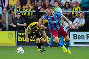Scunthorpe's Jack King during the Sky Bet League 1 match between Burton Albion and Scunthorpe United at the Pirelli Stadium, Burton upon Trent, England on 8 August 2015. Photo by Aaron Lupton.