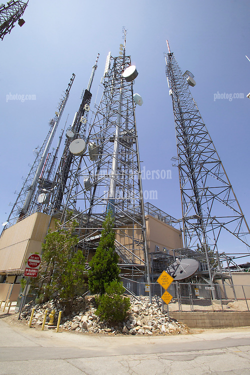 TV and Communications Towers at Mount Wilson CA in the Angeles National Forest.