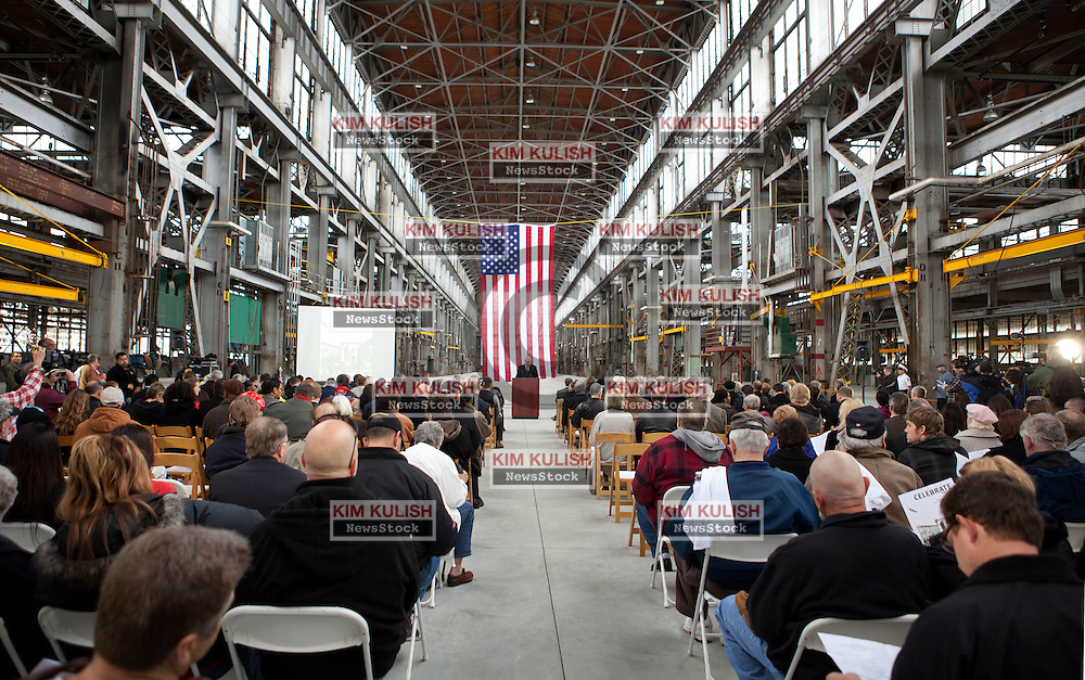 Hundreds of attendees from throughout the region came to celebrate the official opening of the Allied Defense Recycling, Mare Island Dry Docks.