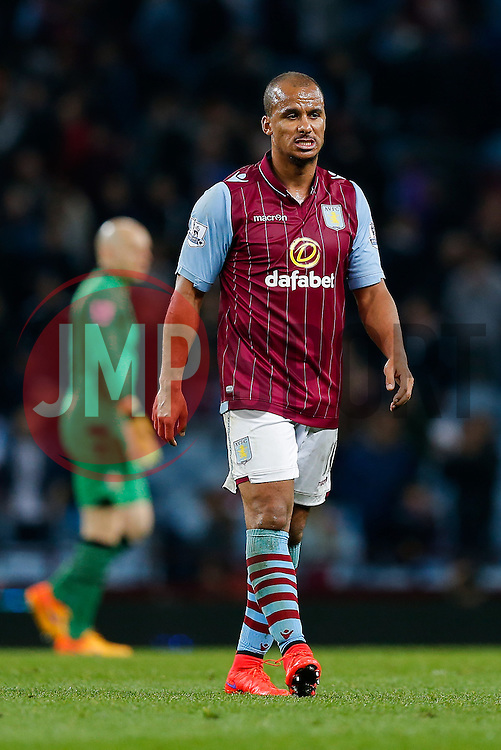after the match ends in a 3-3 draw - Photo mandatory by-line: Rogan Thomson/JMP - 07966 386802 - 07/04/2015 - SPORT - FOOTBALL - Birmingham, England - Villa Park - Aston Villa v Queens Park Rangers - Barclays Premier League.