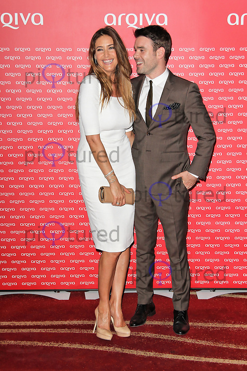 LONDON - JULY 04: Dave Berry; Lisa Snowdon attended the Arqiva Commercial Radio Awards at the Park Plaza Westminster Bridge, London, UK. July 04, 2012. (Photo by Richard Goldschmidt)
