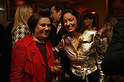 Suzy Menkes and Laudomia Pucci, Plum Sykes, book launch party, Annabel's, Berkeley Square, London, W1,10 May 2006.  Matthew Williamson, Catherine Vautrin, Laudomia Pucci host party to celebrate 'The Debutante Divorcee'. ONE TIME USE ONLY - DO NOT ARCHIVE  © Copyright Photograph by Dafydd Jones 66 Stockwell Park Rd. London SW9 0DA Tel 020 7733 0108 www.dafjones.com