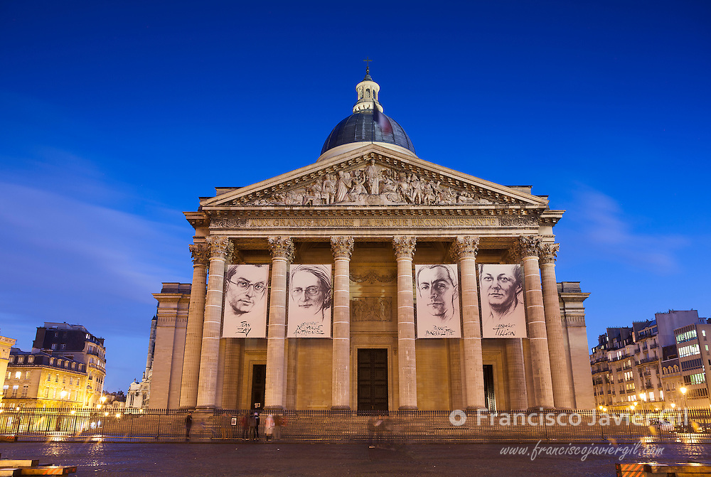 Pantheon in the square of the Grands Hommes, Paris, Ile-de-France, France