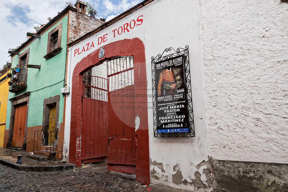 The San Miguel Bullfighting Arena on Recreo Street in San Miguel de Allende, Mexico.